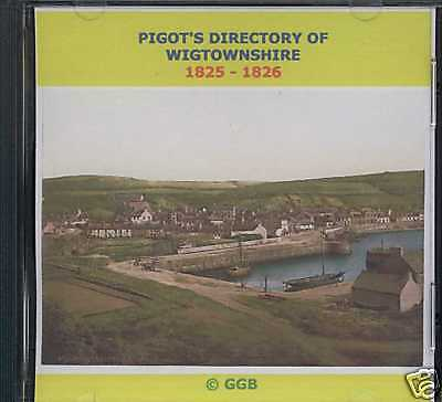 Genealogy Directory Of Wigtownshire 1825-1826