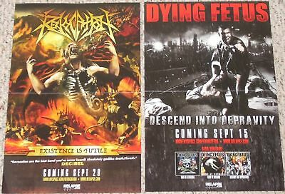 Dying Fetus & Revocation POSTER descend into depravity