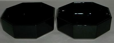 4 Arcoroc France Black Octime Octagon Cereal Bowls