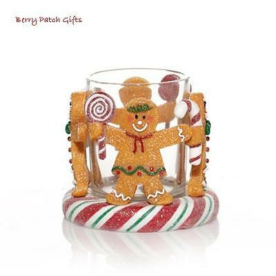 Yankee Candle~GINGERBREAD MEN FRIENDS VOTIVE HOLDER~Christmas Peppermint Candy