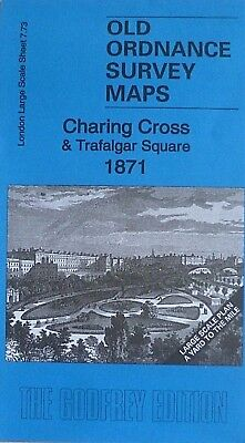 Old Ordnance Survey Maps London Charing Cross & Trafalgar Square 1871 Large Plan
