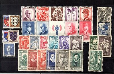 Timbres  Annee  Complete  France Neuf  Luxe  1943 +++