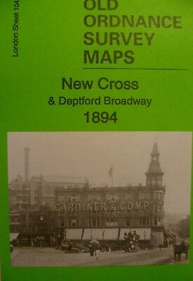 Old Ordnance Survey Maps New Cross Deptford Broadway London 1894 Sheet 104