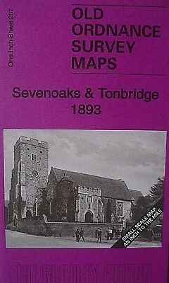Old Ordnance Survey Maps Sevenoaks Tonbridge Wrotham Dist & Map Wrotham 1893