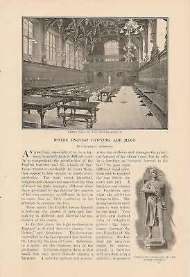 1900 English Lawyers Inns of Court Temple article