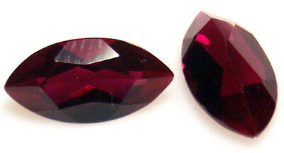 10.5x5.5 mm 1.6 cts Marquise Deep Red Lab Created Ruby