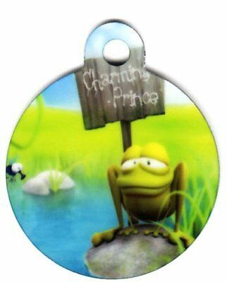 Engraved Pet ID Tag Round Charming Prince! Awesome Tag!