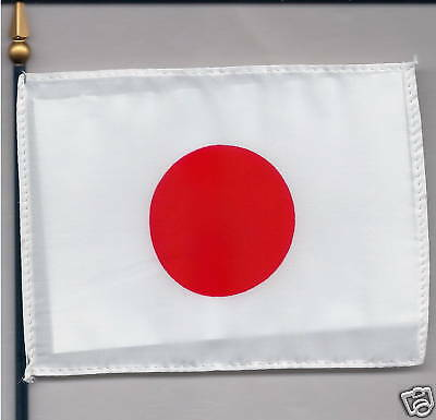 "Japan, Nippon, 日本国 4""x6"" Flag on a Pole NEW"