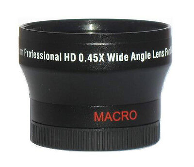 Pro Wide Angle Lens For JVC EVERIO GZ-HD620 GZ-HD500