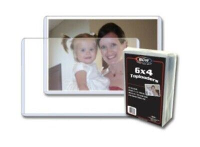 Case of 500 BCW 6 x 4 - Hard Plastic Topload Photo Holders 6x4 toploaders
