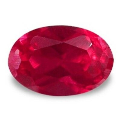 9x7 mm, 3.0 cts oval brilliant cut  red  created Ruby