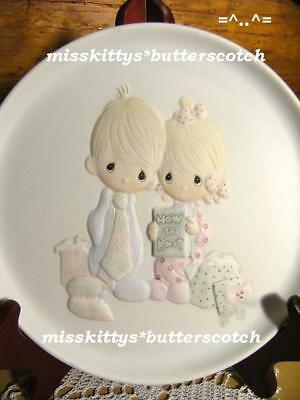 Precious Moments~PLATE~E2378~Our First Christmas~UM