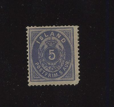 Iceland  9  Mint  catalog  $500.00 nice stamp