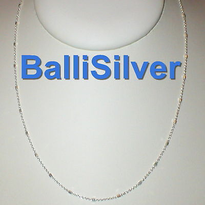 "3 pieces 80"" 203cm Sterling Silver 925 Fine Cable CHAIN with BEADS Necklaces Lot"