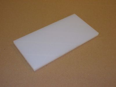 8 mm Natural  HDPE Sheet 500 grade 200 mm x 200 mm Chopping-Filleting Boards etc
