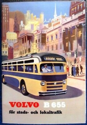 Volvo B655 Bus Coach Chassis Sales Brochure 1953 Uk