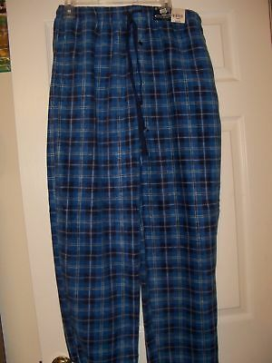 American Living Blue Plaid Pajama Sleep Lounge Pants Mens Size Large NWT #13