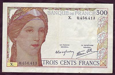 A01+  Billet  300 Francs  Type 1938  Ttb+