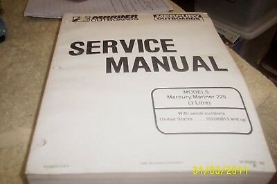 MERCURY Mariner Outboards Manual 225hp 1993