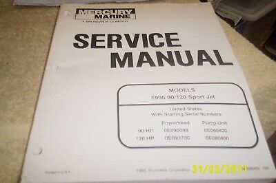 MERCURY Mariner Outboards Manual 90 - 120hp 1995