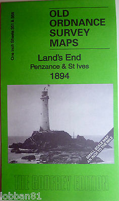 Old Ordnance Survey Maps Lands End Penzance St Ives Area 1894 Sheets 351 & 358
