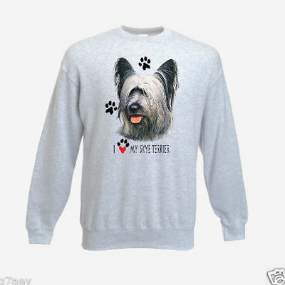 """ I Love My Skye Terrier "" Design Printed Sweatshirt"