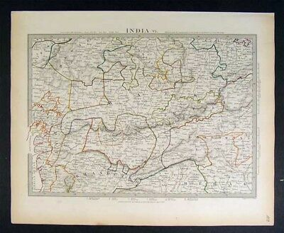 1833 SDUK Map India VI - Nerbudda River Malwa Khandelsh