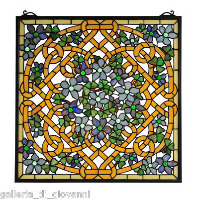 Irish Lucky Shamrock Stained Glass Window  Clover Knot