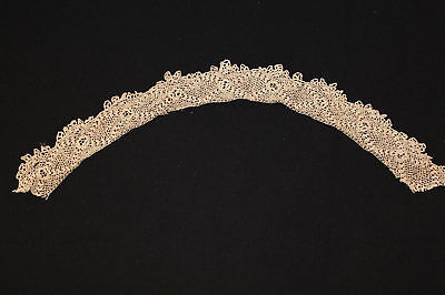 Rare Antique Victorian-Edwardian Irish Lace Collar 20""