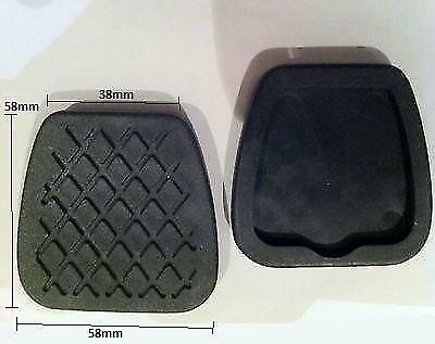Replacement New Foot Pedal Cover Pad Rubbers Pair For Rover 216 1985-2000