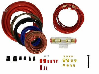 6 Gauge Amplfier Power Kit for Amp Install Wiring Complete RCA Cable Blue 1000W