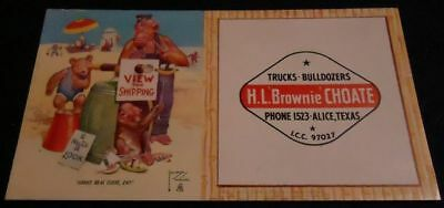 Vintage LAWSON WOOD Monkey Art Blotter ALICE TX TEXAS