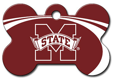 Licensed NCAA Mississippi State Bulldogs Pet Tag