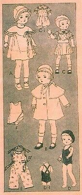 "Vintage 16"" Patsy Doll Clothes Pattern 442"