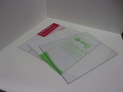 1.5mm A5 Lexan Polycarbonate sheet 210 mm x 148 mm Virtually unbreakable glazing