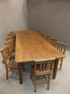 10ft french farmhouse table 12 chapel chairs 1 for Farm table seats 12