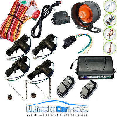 REMOTE CENTRAL LOCKING CAR ALARM & IMMOBILISER Universal Fits Most Cars