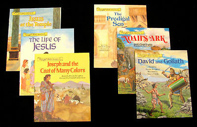 6 Children's Bible Story Books Jesus Noah Joseph NEW