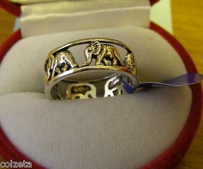 THE ANCIENT POWER OF THE  ELEPHANT RING .925 silver by Peter Stone