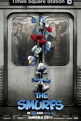 SMURFS- Original 2011 D/S Adv B movie poster-KATY PERRY