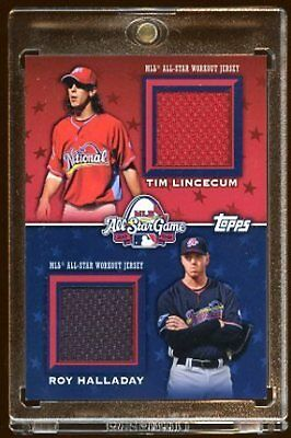 Tim Lincecum Roy Halladay 09 Topps Game All Star Jy /25