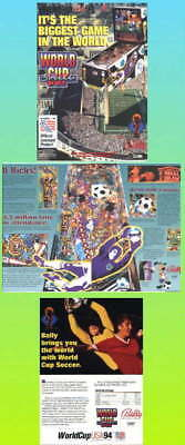 World Cup Soccer Bally '94 Pinball  Advertising Flyer