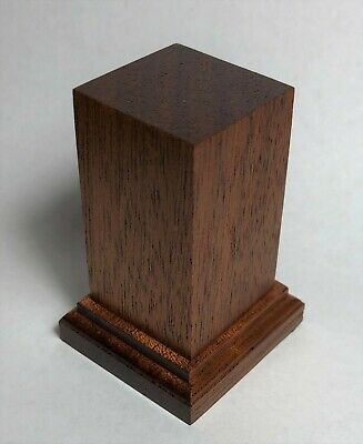 BASETTA BASE IN LEGNO MOGANO PER FIGURINI - PLINTH DISPLAY WOOD BASE 4x4 h6