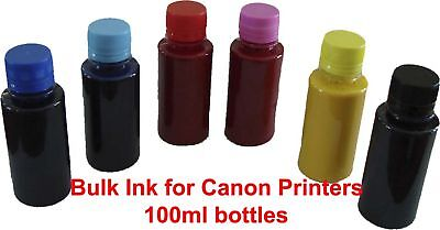 5x100ml Bulk Ink for Canon to refill CISS or Cartridges