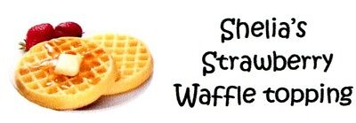 Waffles with Strawberries Address Labels