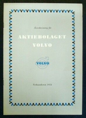 Volvo Annual Report For 1954 (Swedish Text).