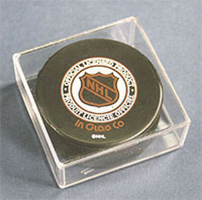 12 ALL NEW HOCKEY PUCK CUBE DISPLAY CASE HOLDERS