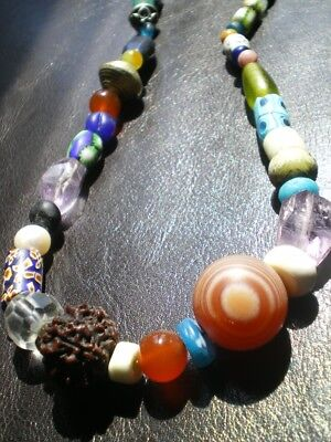 1 All Around The World Collectors Beads Mala Necklace !
