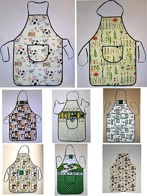 New Full Size Adult Apron 100% Cotton with Pocket