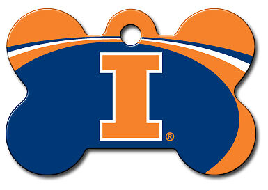 Licensed NCAA Illinois Fighting Illini Pet Tag